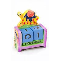 """Календарь настольный """"Черепаха"""" дерево (10х7х4 см) , Статуэтки и фигурки"""