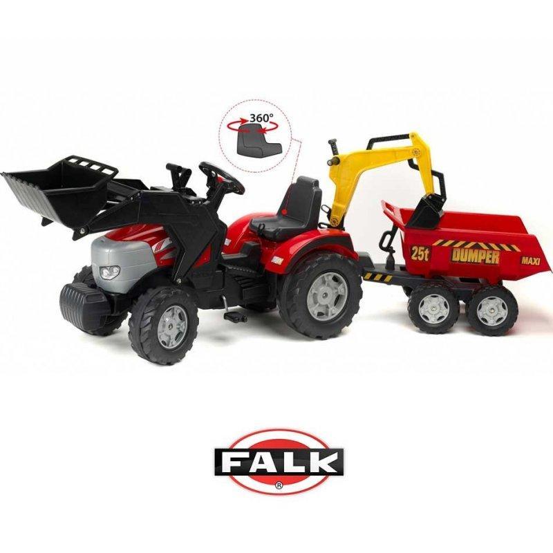 Большой педальный трактор Falk 1030W McCormick