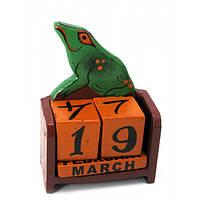 """Календарь настольный """"Жаба"""" дерево (15х10х5 см) , Статуэтки и фигурки"""