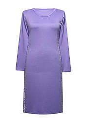 Трикотажное платье с разрезами, вырез