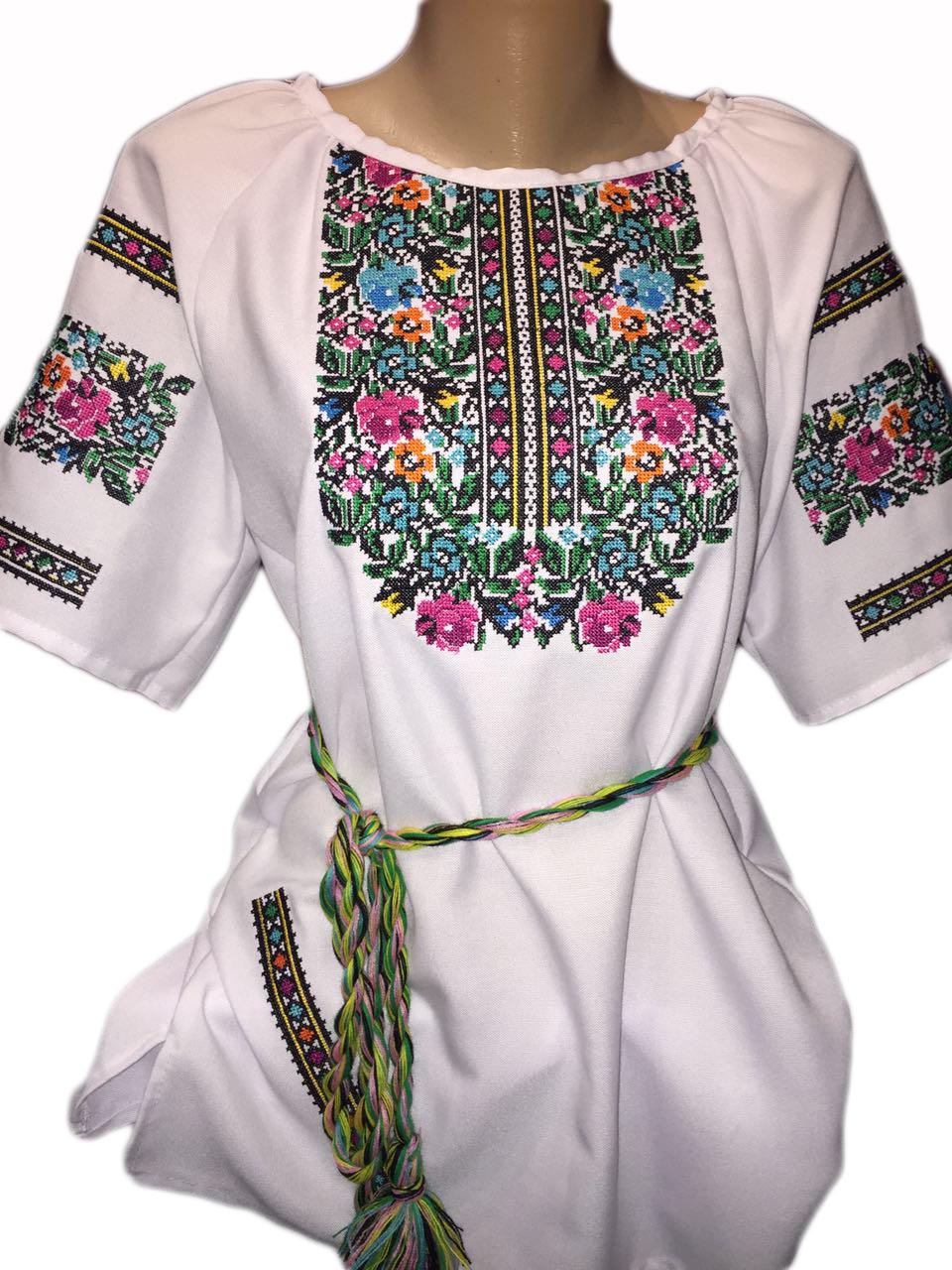 "Жіноча вишита сорочка (блузка) ""Паркел"" (Женская вышитая рубашка (блузка) ""Паркел"") BI-0029"