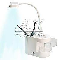 Настольная LED лампа (сенсорное включение) с выдвижными ящиками  + usb кабель