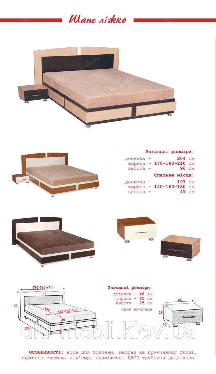 Кровать двуспальная Шанс 140, Алис-м