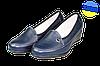Женские классические кожаные туфли  mida 21358син синие   весенние