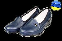 Женские классические кожаные туфли  mida 21358син синие   весенние , фото 1