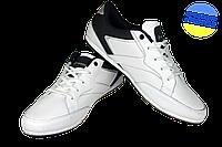 Мужские кроссовки прогулочные кожаные rst pmo12577w/n белые   весенние