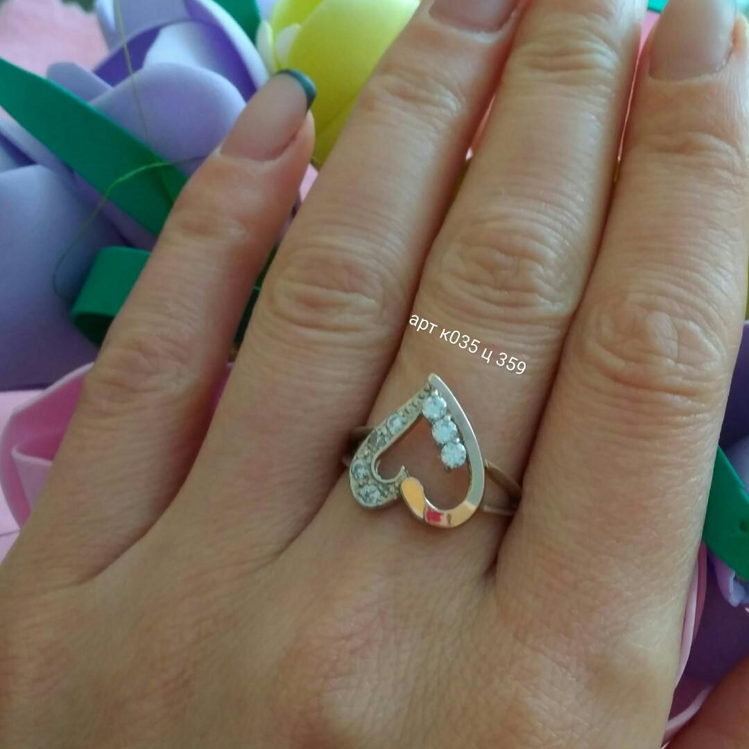 Кольцо серебряное 925 пробы с золотыми пластинами