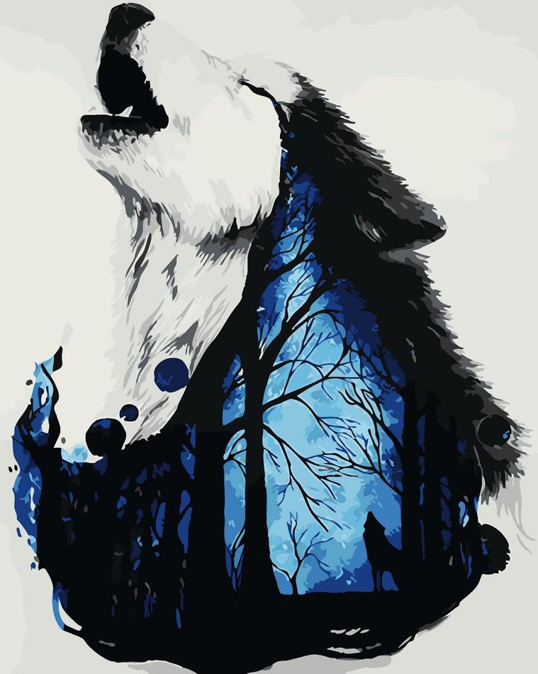 Картина по номерам Мистический волк 40 х 50 см (AS0063)