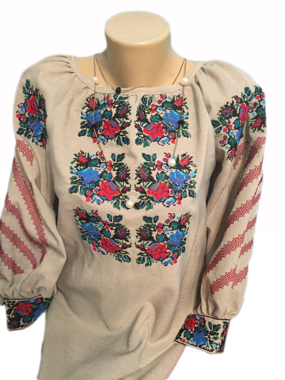 """Женская вышитая рубашка """"Ешли"""" BI-0033"""