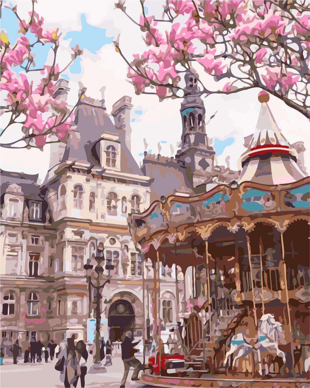 Картина за номерами Париж. Отель-де-Віль 40 х 50 см (AS0147)