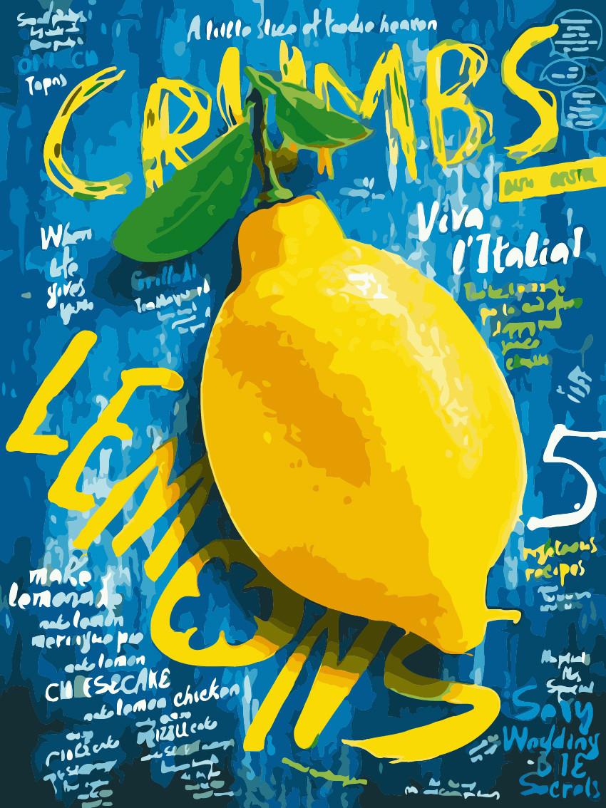 Картина по номерам Сочный лимон 30 х 40 см (AS0213)