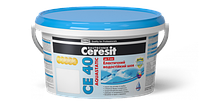 Эластичный водостойкий цветной шов Ceresit CE 40 aquastatic 2кг (ширина шва до 5мм), цвет затирки - персиковый