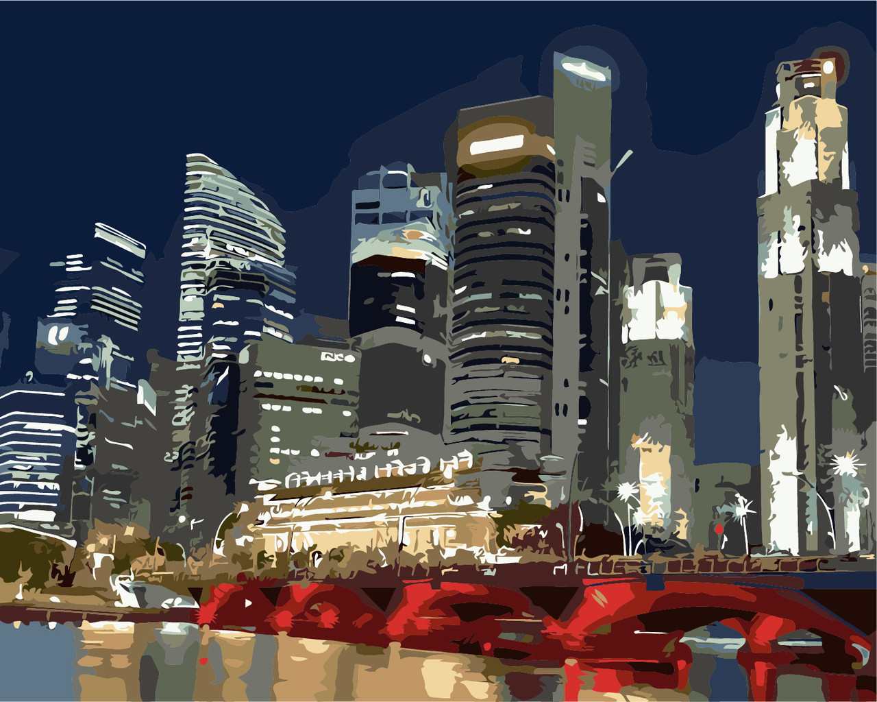 Картина по номерам Ночные огни 40 х 50 см (AS0257)