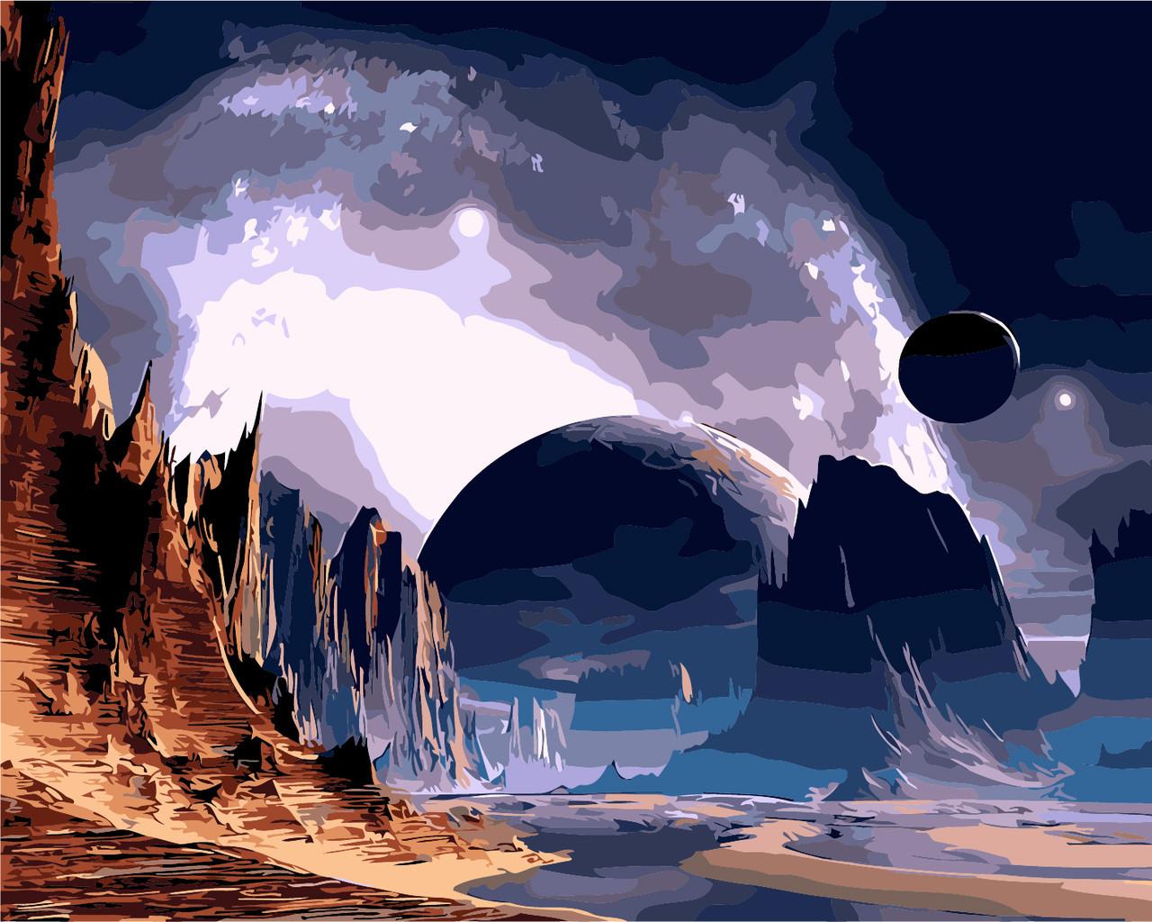 Картина по номерам Далекая планета 40 х 50 см (AS0264)