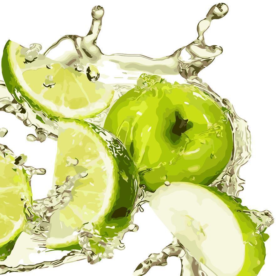 Картина по номерам Яблочная свежесть 40 х 40 см (AS0327)