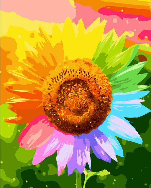 Картина по номерам Яркий подсолнух 40 х 50 см (BK-G225)