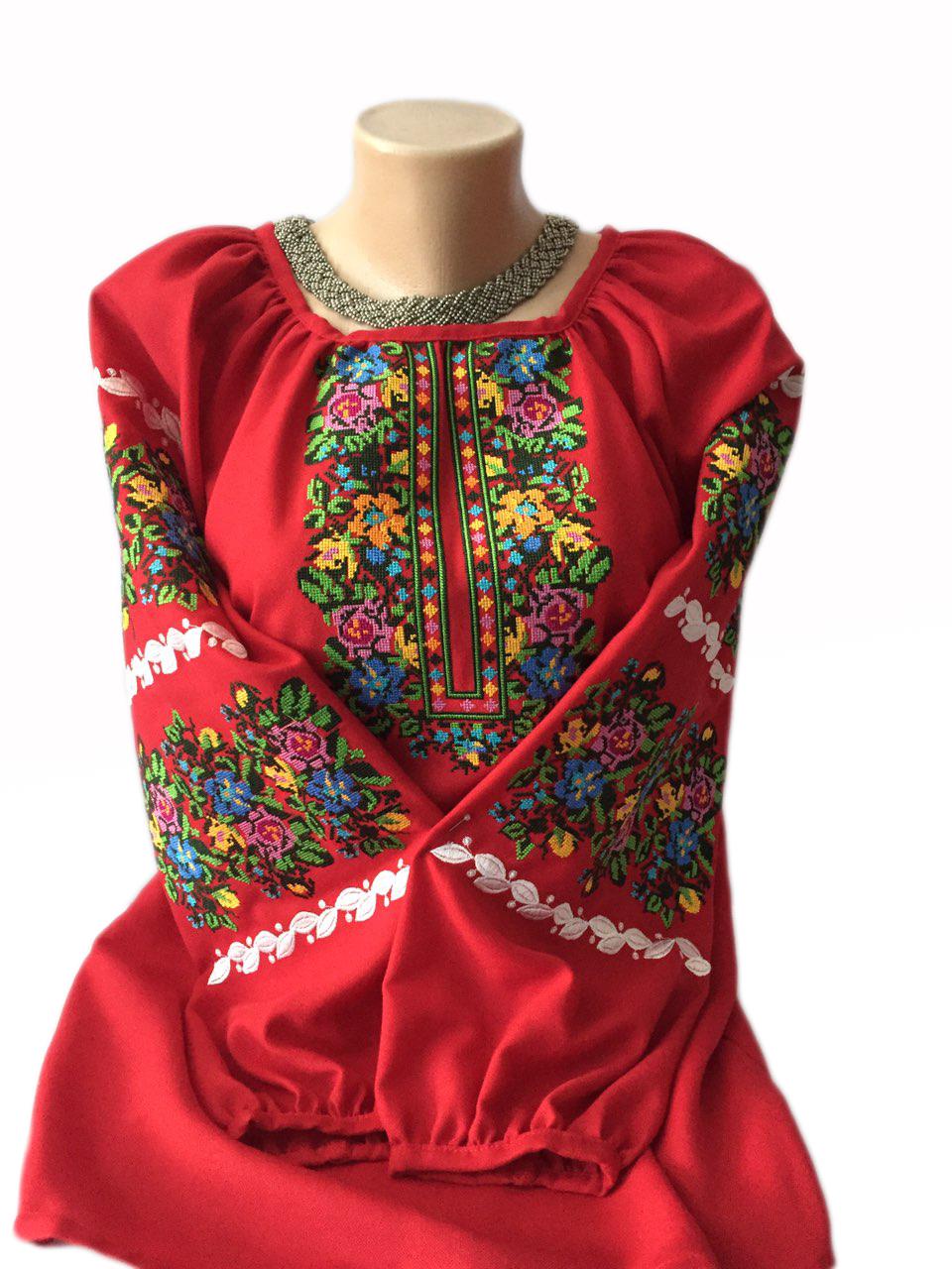 """Женская вышитая рубашка """"Беатрис"""" BI-0034"""