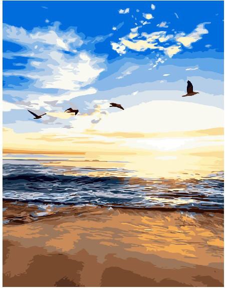 Картина по номерам Утренний пляж 40 х 50 см (BK-G479)