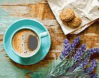 Картина по номерам Кофе и букет лаванды 40 х 50 см (BK-GX21514)