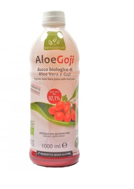 Сок  Алоэ Вера  с ягодами годжи органический Aloe Goji  Benessence,1л.