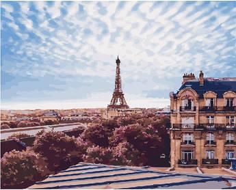 Картина по номерам Небо Парижа 40 х 50 см (BK-GX22081)