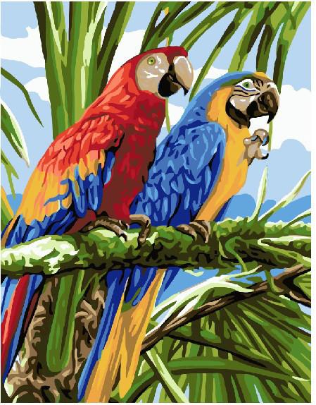 Картина по номерам Попугаи Ара 40 х 50 см (BK-GX22339)