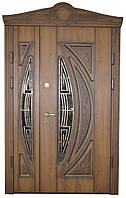 Двери уличные, модель 3 Элит 1170*2050, на трубе, 2 замка, накладки 16 мм, VINORIT, 3D фрезеровка, патина