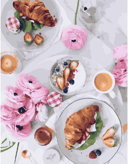 Картина по номерам Французский завтрак 40 х 50 см (BK-GX23709)