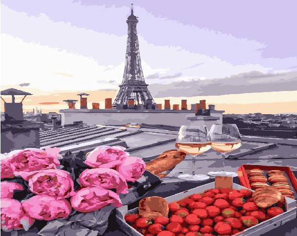 Картина по номерам Клубника и шампанское 40 х 50 см (BK-GX23710)