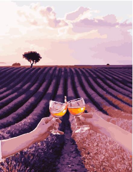 Картина по номерам Вино и лаванда 40 х 50 см (BK-GX23787)