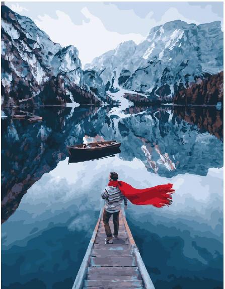 Картина по номерам Озеро Лаго ди Брайес 40 х 50 см (BK-GX23788)