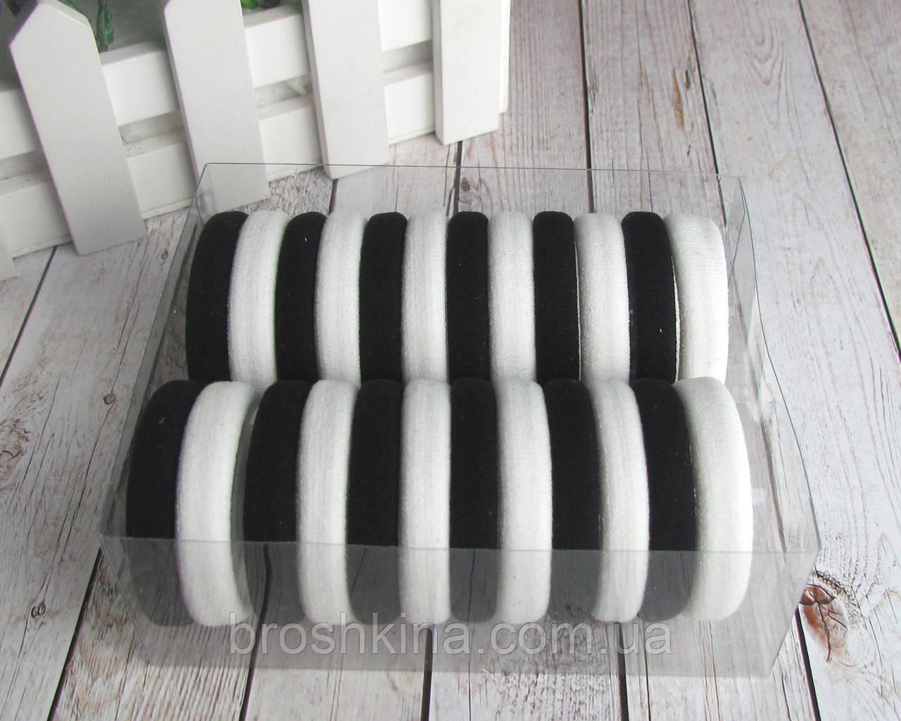 Резиночки для волос микрофибра d 4 см  24 шт. в коробочке
