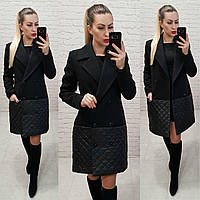 Пальто жіноче весна - осінь арт. 140 чорне, фото 1