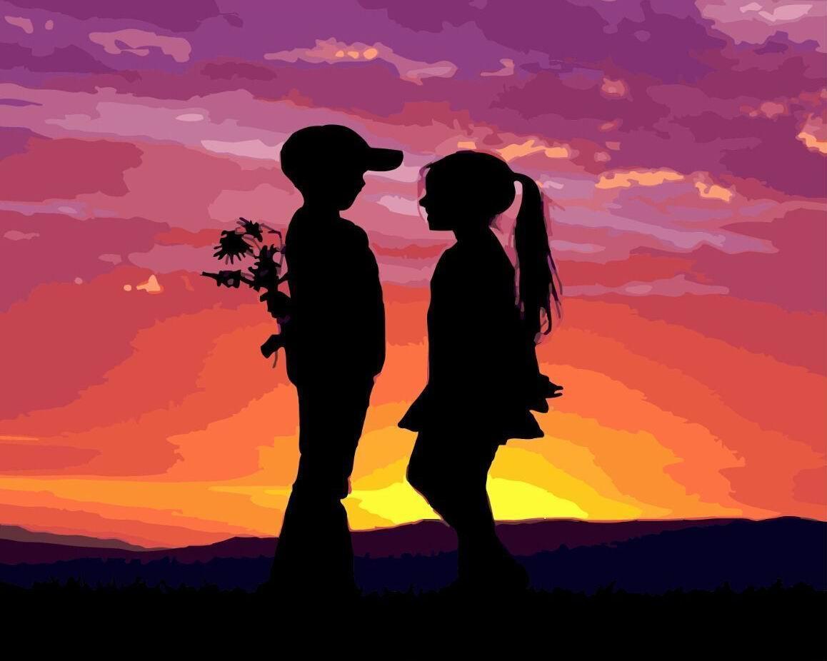 Картина по номерам Первая любовь 40 х 50 см (BK-GX4396)