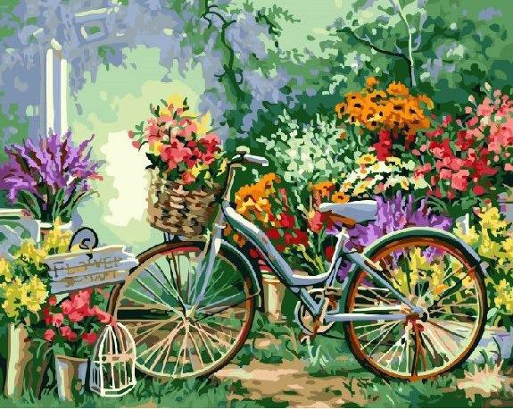 Картина по номерам Цветочный рынок 40 х 50 см (BK-GX4663)