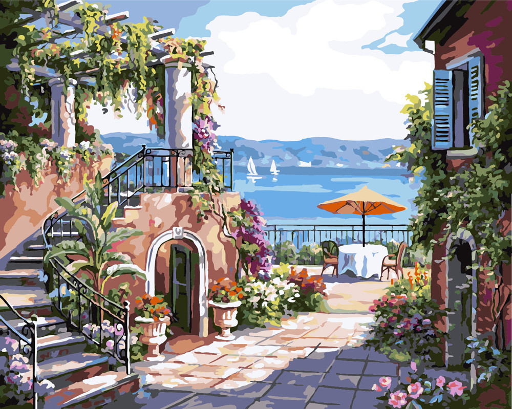 Картина по номерам Тосканская терраса 40 х 50 см (BK-GX7174)