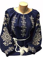 "Жіноча вишита сорочка (блузка) ""Ройсен"" (Женская вышитая рубашка (блузка) ""Ройсен"") BI-0035"