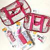 Набор из 3 прозрачных сумок в роддом Mommy Bag - S,M,L - Розовые, фото 4