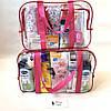 Набор из 3 прозрачных сумок в роддом Mommy Bag - S,M,L - Розовые, фото 5
