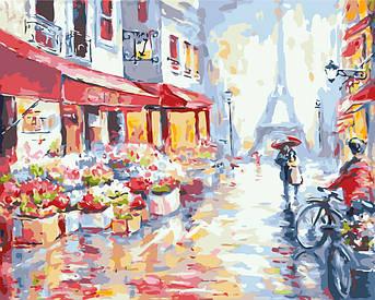 Картина по номерам Весенний дождь в Париже 40 х 50 см (BK-GX7959)