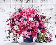 Картина по номерам Розовые хризантемы 40 х 50 см (BK-GX8069)