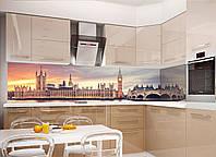 Кухонный фартук Лондон (полноцветная фотопечать пленка для стеновых панелей Англия Биг-бен) 600*2500 мм, фото 1