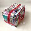 Сумка прозрачная в роддом Mommy Bag - M - 40*25*20 см Розовая, фото 3