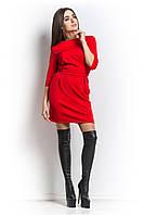 Платье из трикотажа кукуруза красное.