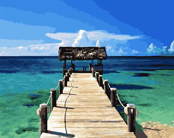 Картина по номерам Карибы 40 х 50 см (BRM21744)