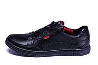 Мужские кожаные кроссовки  Ecco Wayfly Black  (реплика), фото 1