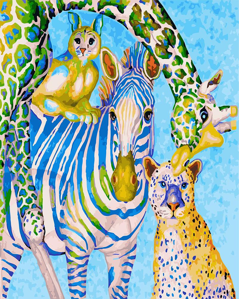 Картина по номерам Яркий зоопарк 40 х 50 см (BRM23029)