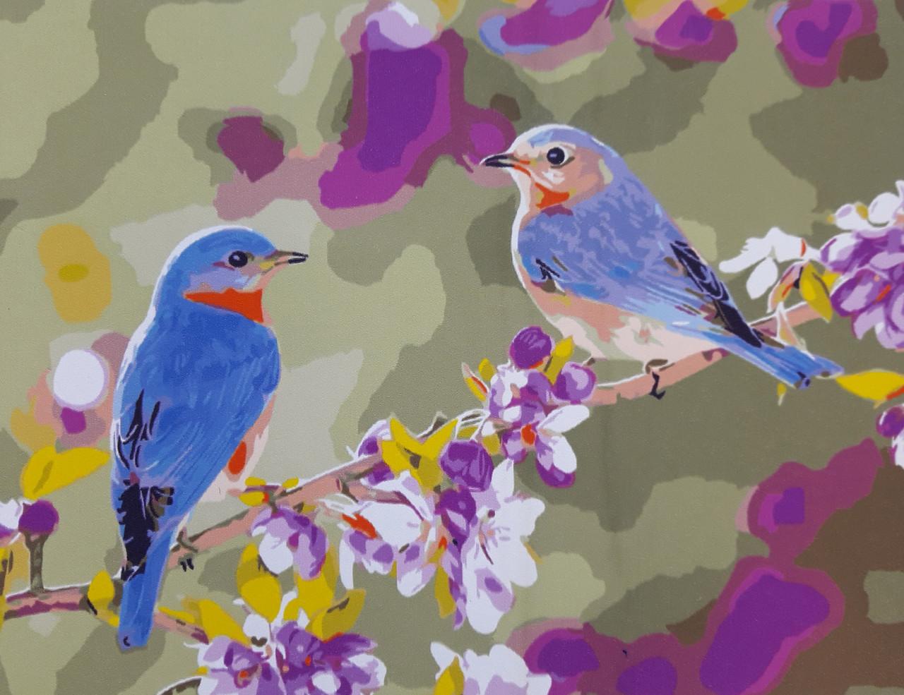 Картина по номерам Синие птички 40 х 50 см (BRM3328)