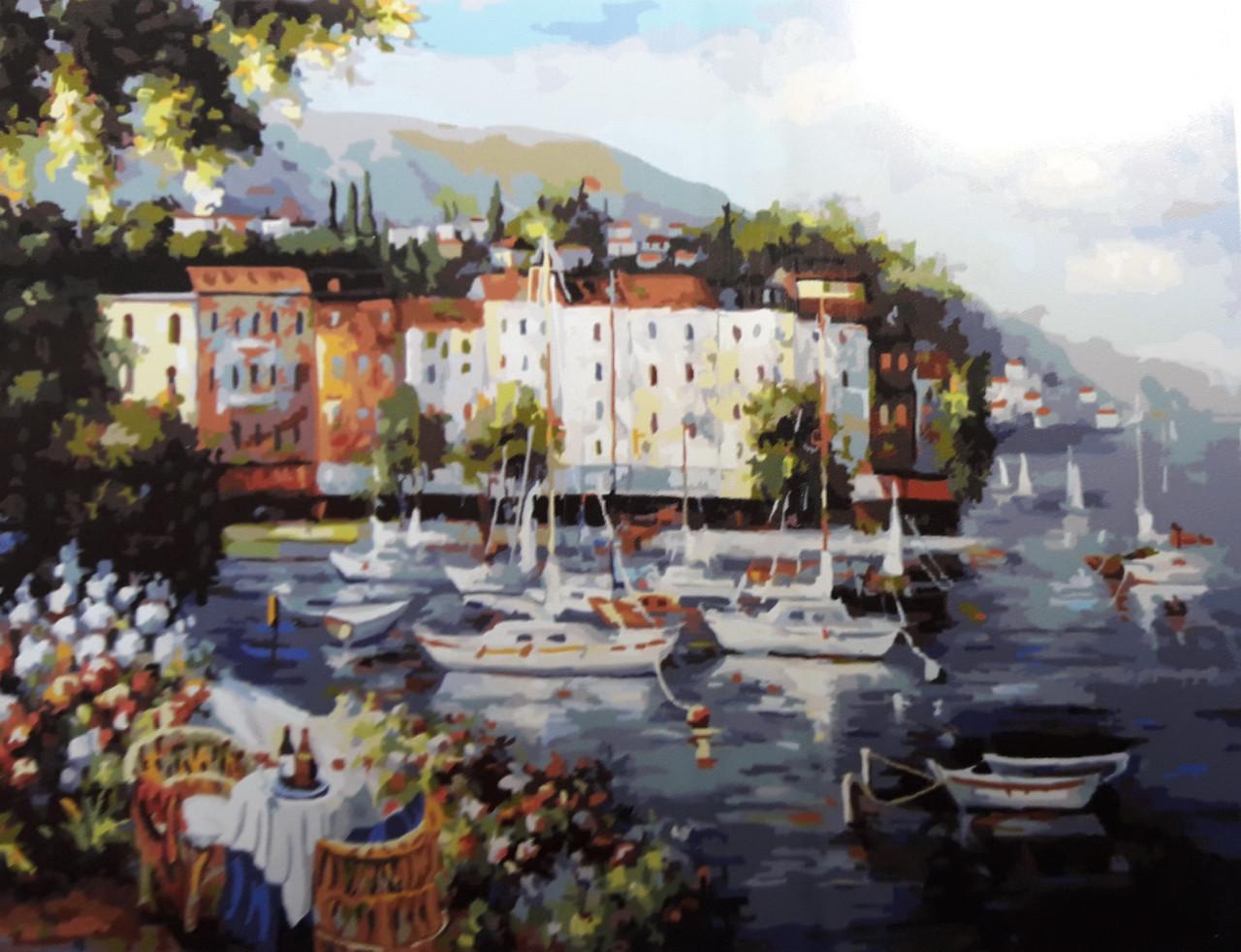 Картина по номерам Солнечный городок 40 х 50 см (BRM3609)