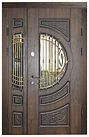 Двери уличные, модель 12 Стандарт 1170*2050, 2 замка, накладки 16 мм, VINORIT, 3D фрезеровка, патина